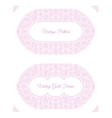 Eastern pink arabic lines design templates vector image