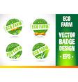 Eco farm Badge vector image vector image