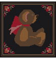 embroidered bear vector image vector image