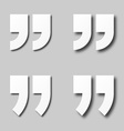 EPS10 blank white paper quotation marks vector image vector image