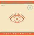 eye icon - line concept vector image