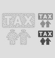 family tax pressure mesh network model and vector image vector image