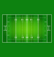 flat green rugby field top rugby field rugby field vector image vector image