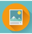 Flat Landscape with like photo icon vector image vector image