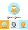 flat modern minimalistic guru logo vector image vector image