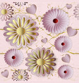 floral 3d seamless pattern rose gold ornamental