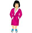 girl in robe vector image vector image