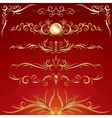 Golden Ornamental Design Elements Graphics vector image