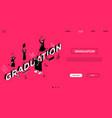 graduation concept - line design style isometric vector image vector image