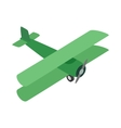 Green plane icon isometric 3d style vector image vector image