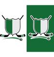Hockey Sport Crest vector image vector image