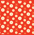 japanese pattern red and gold floral shapes colors vector image vector image