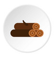 logs of trees icon circle vector image vector image