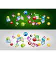 Lottery bingo tickets balls falling dawn Lottery vector image vector image