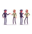 male friends greeting vector image vector image