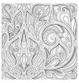 monochrome floral background in paisley garden vector image vector image