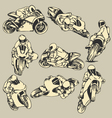 Motorcycle High Speed Action vector image vector image