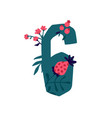 number 6 in flowers and plants number in vector image vector image