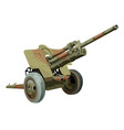 Old military gun on wheels