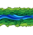paper river top view water stream surrounded by vector image vector image