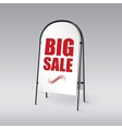 Pavement sign with the text big sales