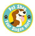 petshop design in cartoon style vector image vector image