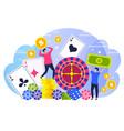poker winners people concept characters happy vector image vector image