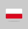 Poland flag state symbol stylized geometric vector image