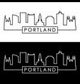 portland maine skyline linear style editable vector image vector image