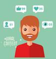 portrait man viral content internet vector image