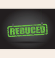 reduced green vector image vector image
