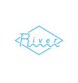 river - logotype with wave logo graphic element vector image