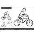 road bike line icon vector image