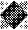 seamless geometrical monochrome dot pattern vector image vector image