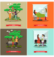 set of maternity hospital posters in flat vector image vector image
