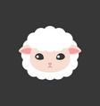 sheep face icon vector image vector image