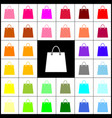 shopping bag felt-pen 33 vector image