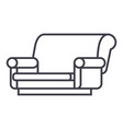 sofa isometric line icon sign vector image