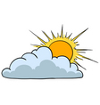 sunny with cloud vector image vector image