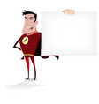 super hero banner vector image vector image