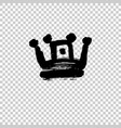 texture strokes thick paint in the form of a crown vector image vector image