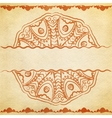 Textured card with round ornament vector image