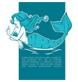 underwater beautiful mermaid girl cartoon image vector image vector image