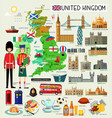 united kingdom travel map vector image vector image