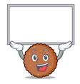 up board chocolate biscuit character cartoon vector image vector image