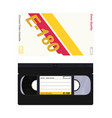 video cassette vector image vector image
