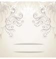 vintage elegant background for invitations vector image