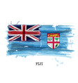 watercolor painting flag of fiji vector image vector image