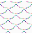 Watercolor seamless pattern with garlands on the vector image vector image