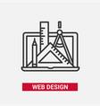 web design - modern line design icon vector image vector image